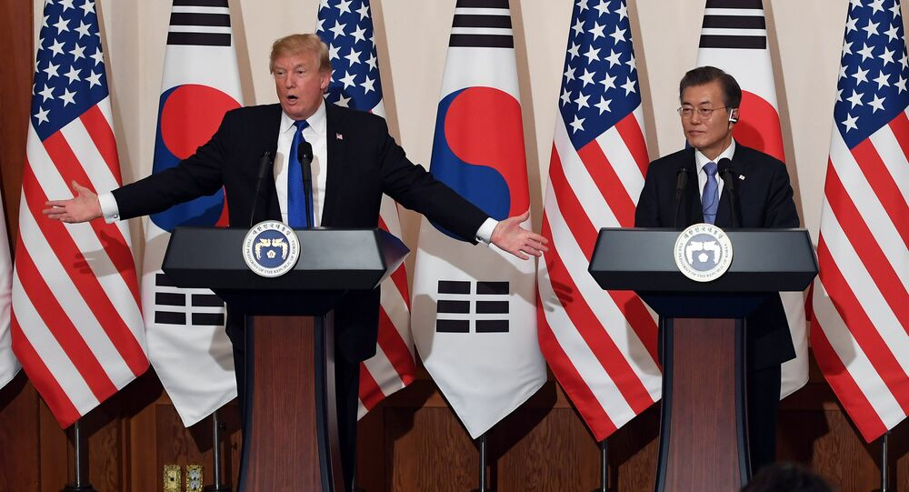 Il presidente USA Donald Trump e il presidente sudcoreano Moon Jae-in