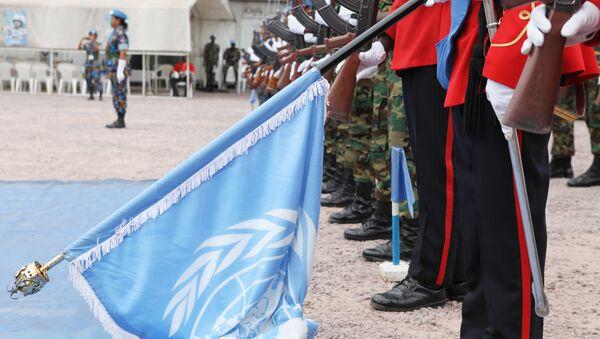 Helmet and Flack Jackets of UN Peacekeepers - Sputnik Italia