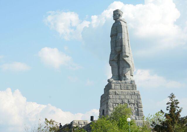 Monumento Alyosha a Plovdiv, Bulgaria (foto d'archivio)