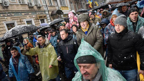 A centro Kiev marcia per l'impeachment di Poroshenko - Sputnik Italia