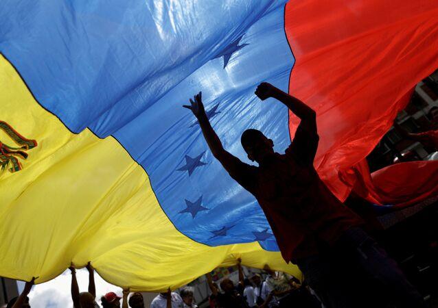 La bandiera del Venezuela.