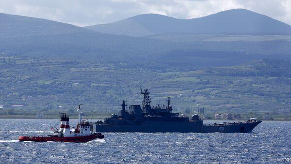 Nave da guerra russa nel Mediterraneo - Sputnik Italia