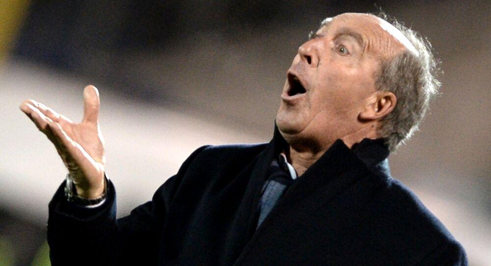 Il commissario tecnico della nazionale italiana Giampiero Ventura