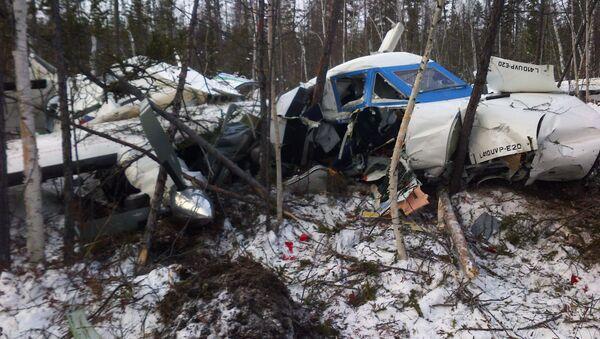 Обломки самолета L-410, потерпевшего крушение при заходе на посадку в аэропорту Нелькан, в Хабаровском крае - Sputnik Italia
