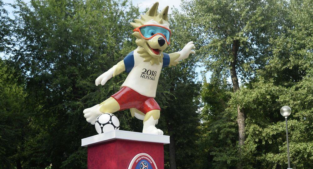 La mascotte dei Mondiali a Rostov sul Don