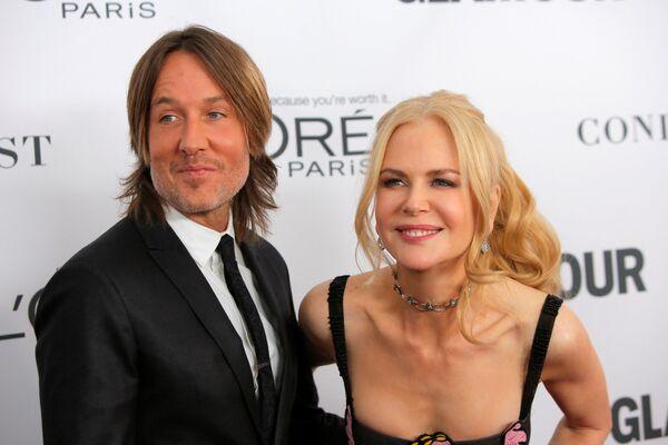 Il cantante e ghitarrista australiano Keith Urban e l'attrice australiana Nicole Kidman alla Glamour Women of the Year Awards 2017. - Sputnik Italia