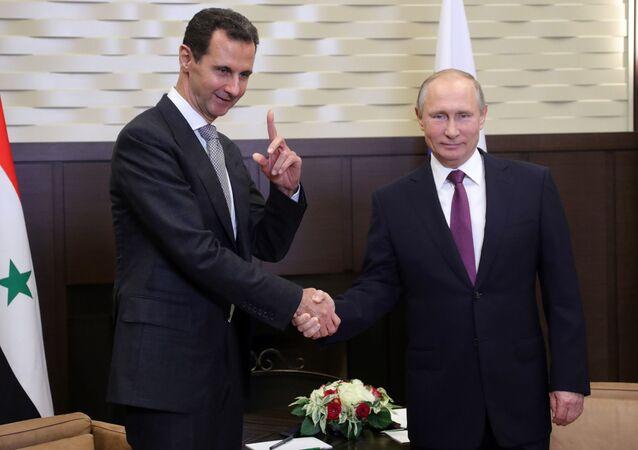 Vladimir Putin si è incontrato con Bashar al-Assad a Sochi