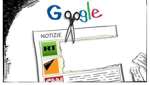 Google contro RT e Sputnik. - Sputnik Italia