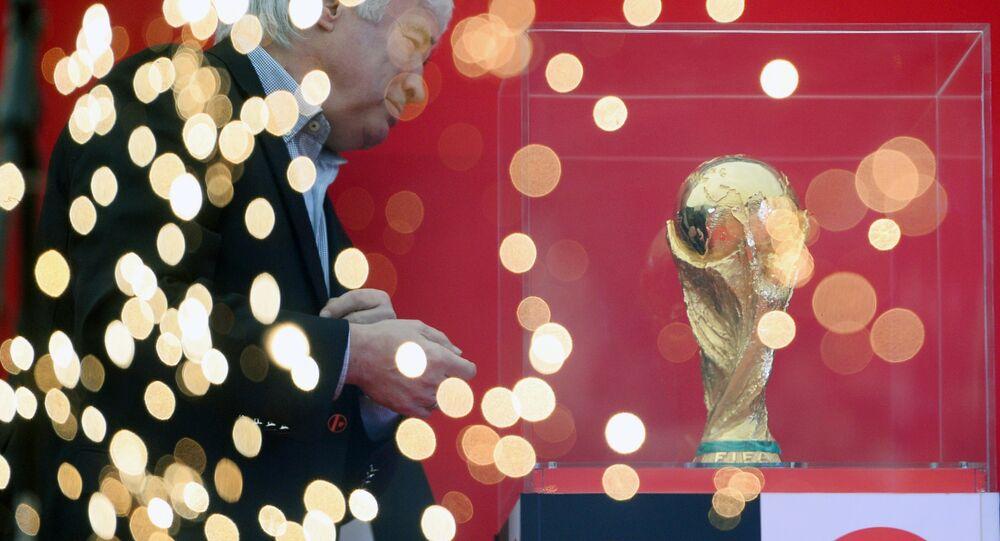 Il trofeo della Coppa del Mondo di Calcio