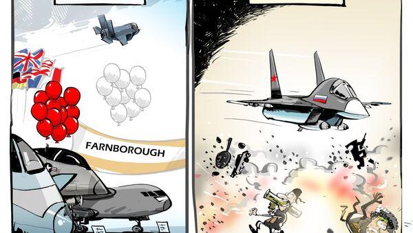 La Russia non potrà mettere in mostra i propri aerei al salone aeronautico di Farnborough - Sputnik Italia