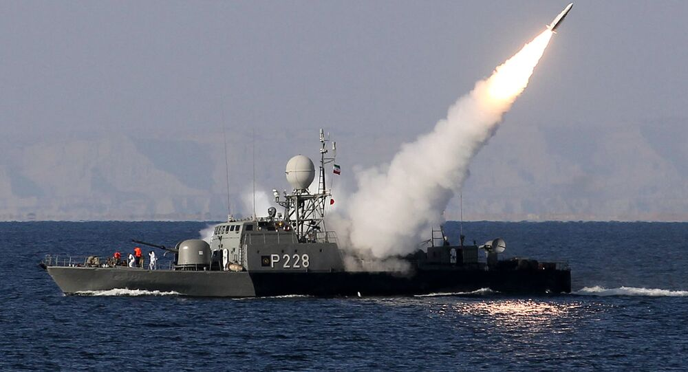 Iranian navy fires a Mehrab missile during the Velayat-90 naval wargames in the Strait of Hormuz in southern Iran (file)