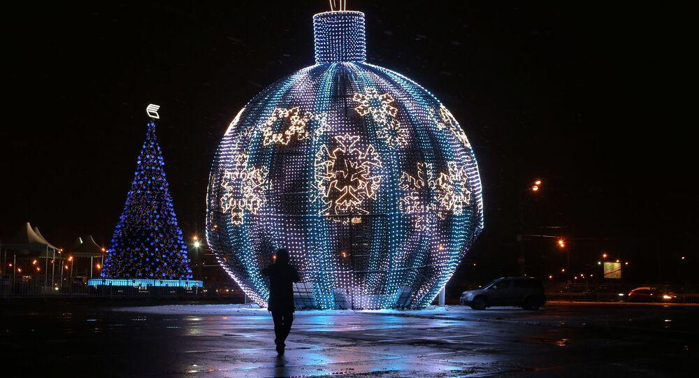 La palla di Natale più grande del mondo