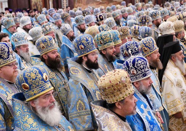 Божественная литургия в Кафедральном Соборном Храме Христа Спасителя в Москве