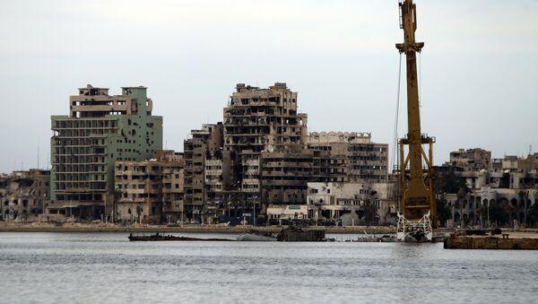 Edifici distrutti a Bengasi, Libia - Sputnik Italia