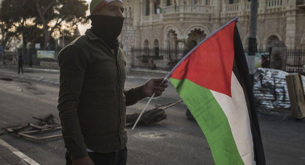 I manifestanti, il confine tra Palestina ed Israele