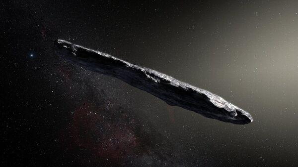 L'asteroide interstellare Oumuamua rappresentato da un artista. - Sputnik Italia