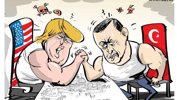 Il presidente turco Tayyip Erdogan ha proposto di proclamare Gerusalemme capitale della Palestina. - Sputnik Italia