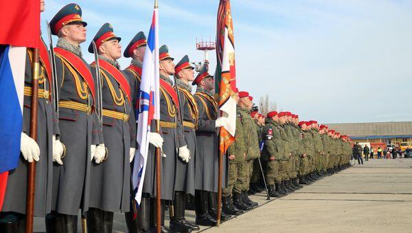 Battaglione della polizia militare russa torna dalla Siria - Sputnik Italia