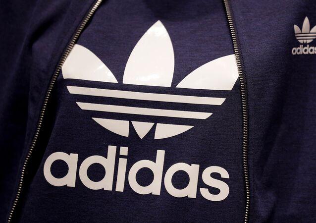 El logo de la marca Adidas