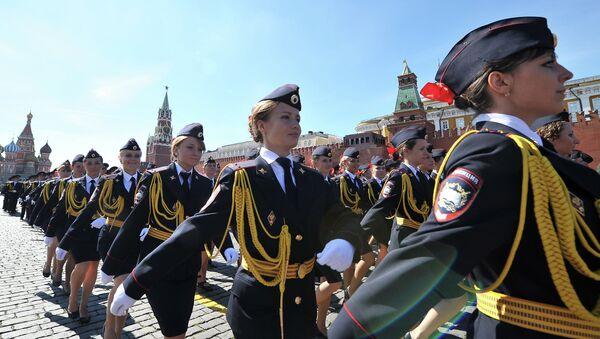 Donne poliziotto russe sulla Piazza Rossa - Sputnik Italia