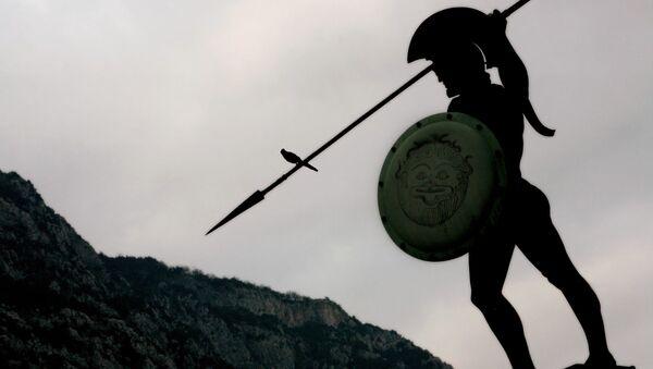 Скульптура короля Спарты Леонида I в Греции - Sputnik Italia