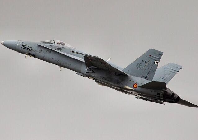 Caccia F-18 Hornet dell'Aviazione finlandese