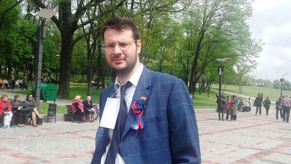 Vito Comencini, capogruppo Lega Nord nel comune di Verona, a Donetsk. - Sputnik Italia