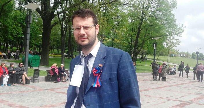 Vito Comencini, capogruppo Lega Nord nel comune di Verona, a Donetsk.