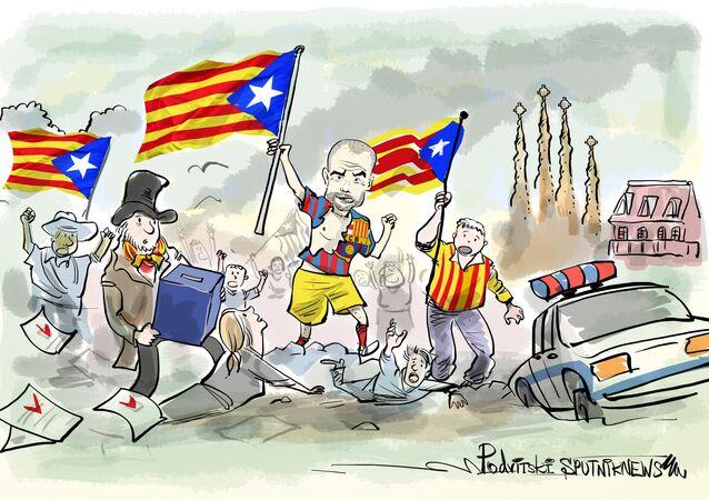 Polizia spagnola include l'allenatore Pep Guardiola nella lista dei separatisti