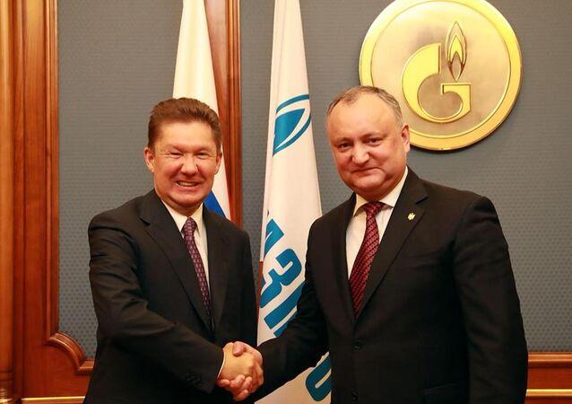 Igor Dodon e Aleksey Miller