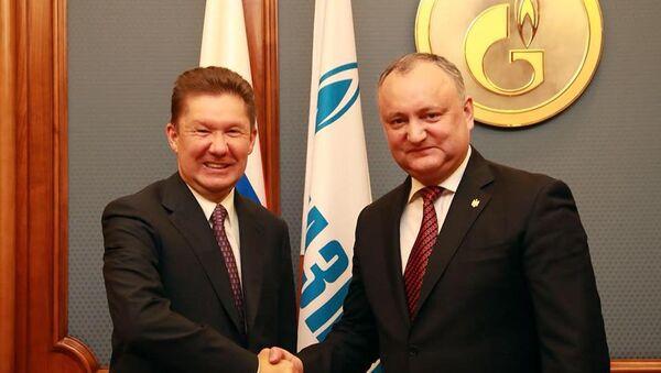 Igor Dodon e Aleksey Miller - Sputnik Italia