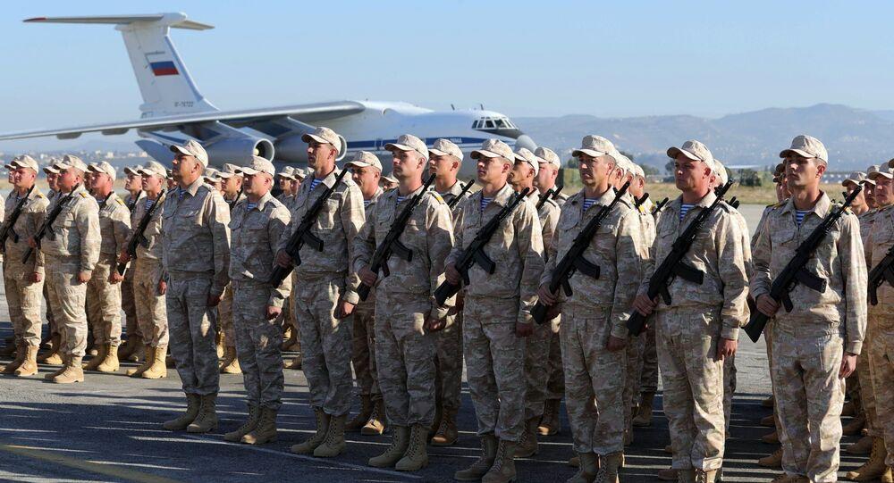 Contingente militare russo nella base siriana di Khmeimim (foto d'archivio)