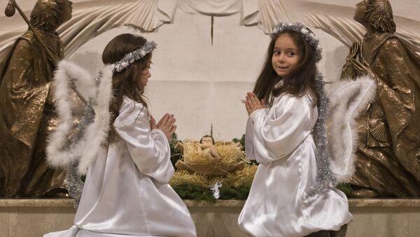 Preghiera dei bambini a Natale - Sputnik Italia