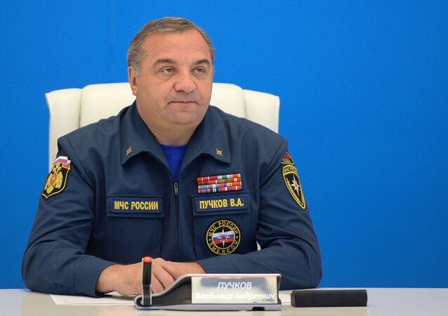 Ministro delle Situazioni d'Emergenza russo Vladimir Puchkov