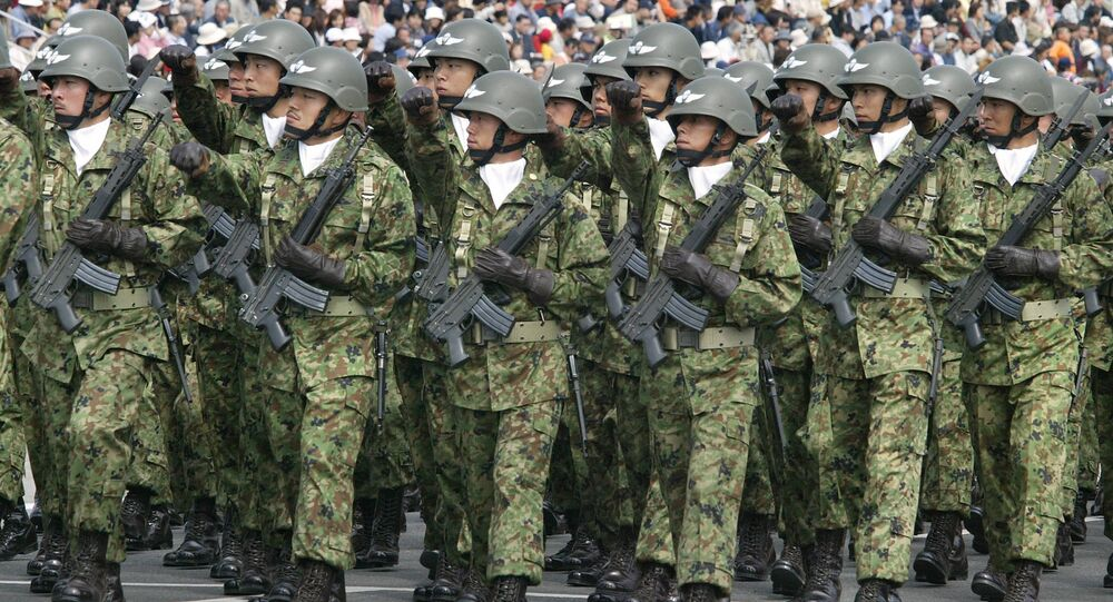 Truppe giapponesi (foto d'archivio)