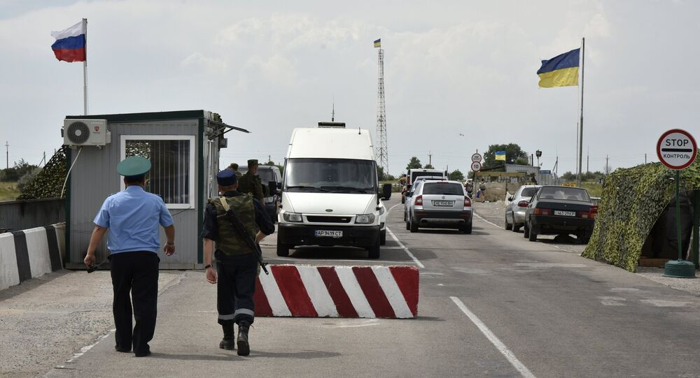 Border crossing point on Russia-Ukraine border. File photo