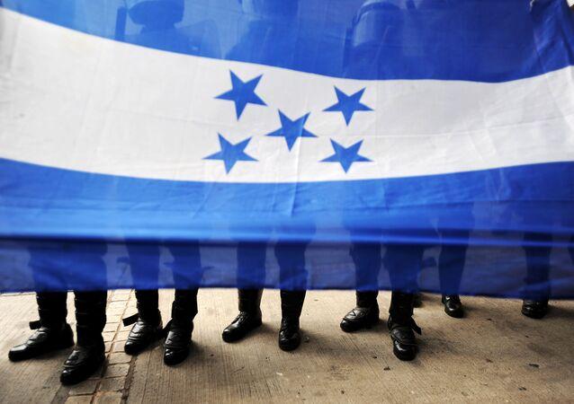 La bandiera dell'Honduras.