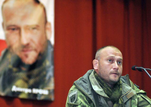 Leader estrema destra ucraina Dmytro Yarosh (foto d'archivio)