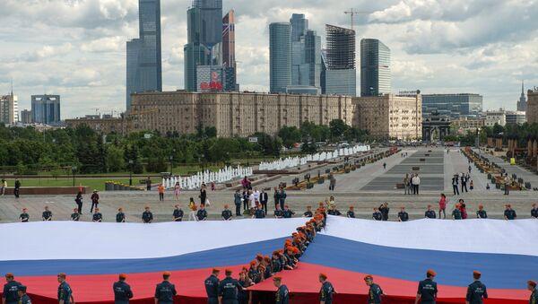 Russia's largest flag unfolding ceremony - Sputnik Italia