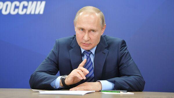 Il presidente russo Putin durante la prima riunione del suo comitato elettorale - Sputnik Italia