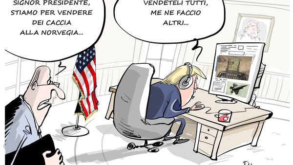 """Trump """"vende"""" alla Norvegia aerei che esistono solo in videogioco - Sputnik Italia"""