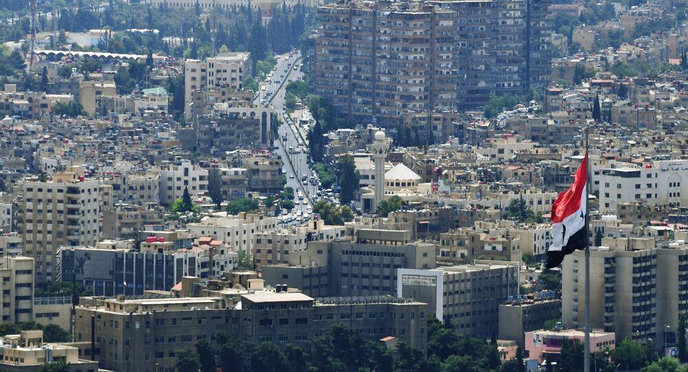 A view of Damascus from Qasioun Mountain