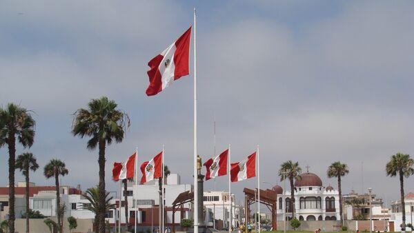 La Punta, Lima, Peru. Flags - Sputnik Italia