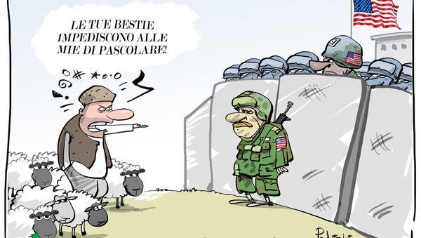 Base della difesa anti-missile USA in Romania minaccia un gregge di pecore - Sputnik Italia