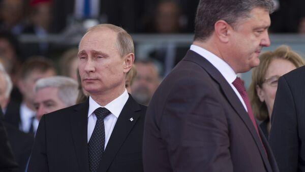 Petro Poroshenko e Vladimir Putin - Sputnik Italia