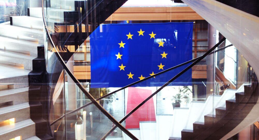La bandiera dell'Ue.