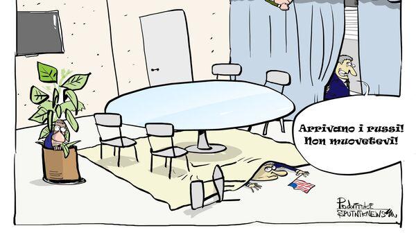 Americani si nascondono dalla delegazione russa al Forum di Davos - Sputnik Italia