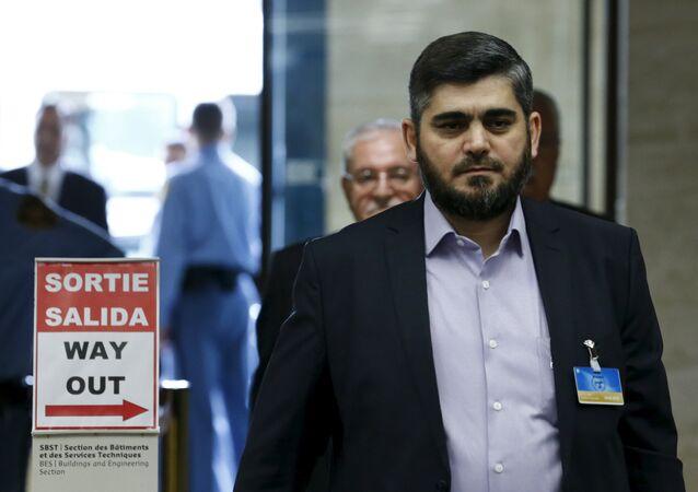 Mohamed Alloush, rappresentante della delegazione dell'opposizione siriana (foto d'archivio)