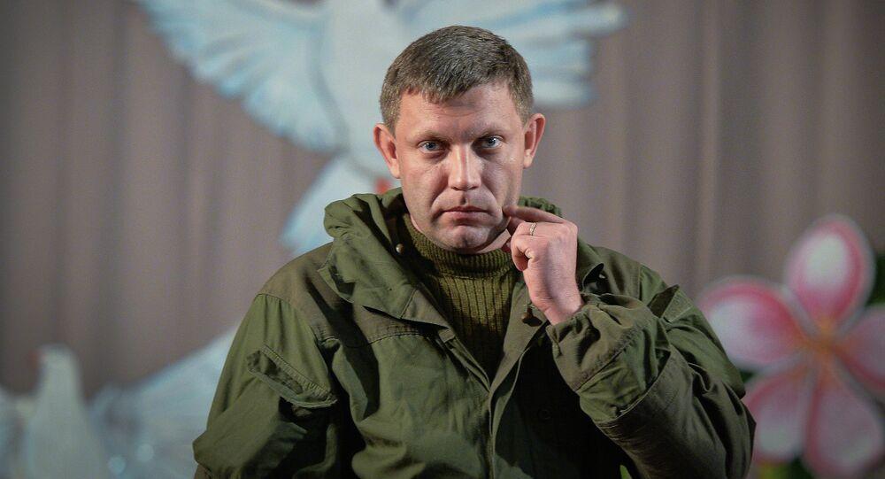 Leader DNR Alexander Zakharchenko