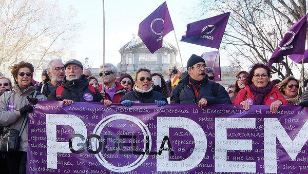 Manifestazione del partito Podemos - Sputnik Italia